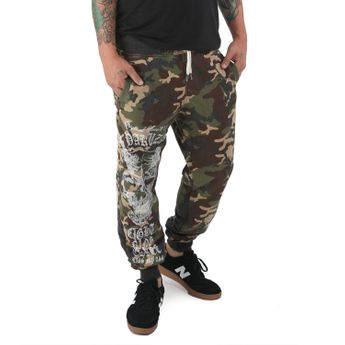 Yakuza Herren Jogginghose Demon Two Face Jogger JOB 12049 camouflage moon