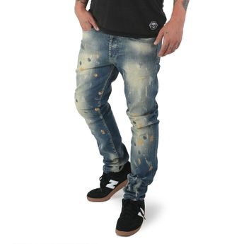 Yakuza Jeans Herren 893 Straight Fit JEB 12078 bronze distressed