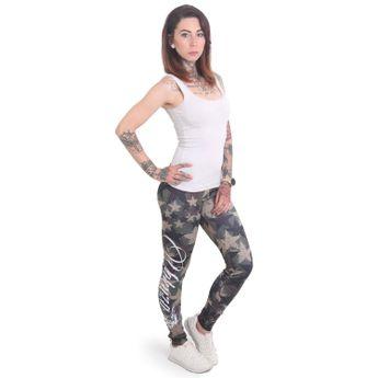 Yakuza Leggings Damen Stars camouflage online kaufen