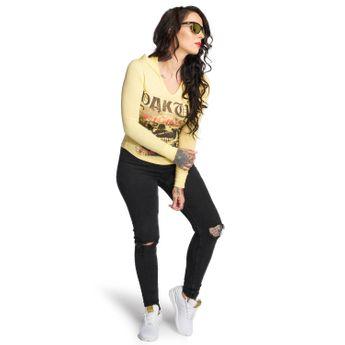 Yakuza Damen Longsleeve Skull Hooded Shirt GLSB 12121 pale banana online kaufen