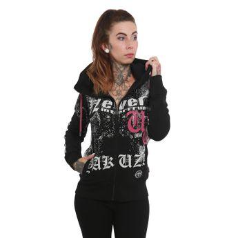 Yakuza Damen Kapuzenjacke Diamond Skull High Neck GHZB 12127 schwarz online kaufen