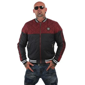 Yakuza Herren Steppjacke Other Side Two Face JB 12055 ruby wine rot