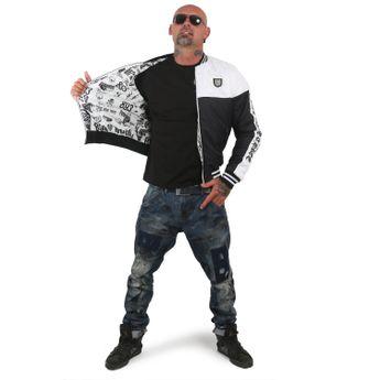 Yakuza Herren Steppjacke Other Side Two Face JB 12055 schwarz weiß online kaufen