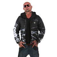 Yakuza Herren Steppjacke Barbwire Quilted Jacket JB 12056 Schwarz 001