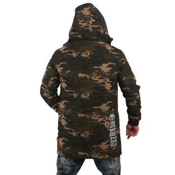 Yakuza Herren Winterjacke Flag Teddy Parka JB 12064 Camouflage grün online kaufen