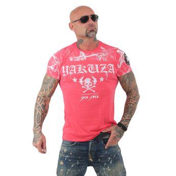 Yakuza Herren T-Shirt Marble TSB 13034 geranium pink