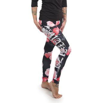 Yakuza Damen Leggings Roses V02 LEB 13153 multicolored schwarz online kaufen