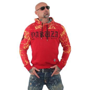 Yakuza Herren Kapuzenpullover Marble Hoodie HOB 13005 ribbon red rot