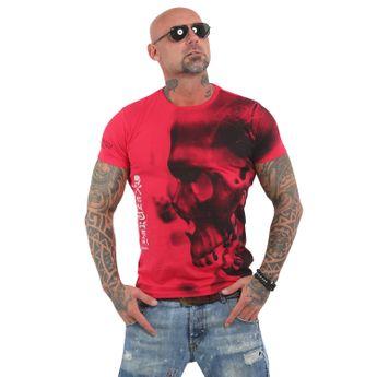 Yakuza Herren T-Shirt Dead End TSB 13062 ribbon red rot
