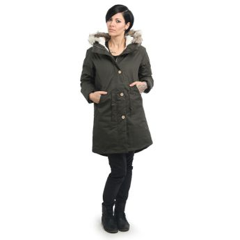 Elvine Damen Wintermantel Parka Jacke Fishtail Army Green oliv online kaufen