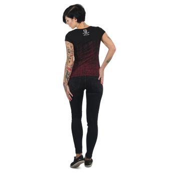 Yakuza Damen T-Shirt Love & Peace V-Neck schwarz online kaufen