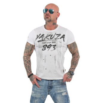 Yakuza Herren T-Shirt Lock Up TSB 13026 weiß