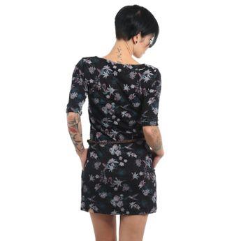 Ragwear Damen Kleid 3/4 Arm Tanya Flowers E schwarz online kaufen