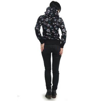 ragwear Damen Kapuzenpullover Yoda Flowers E schwarz online kaufen