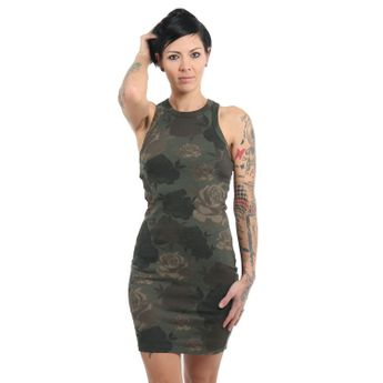 Yakuza Damen Tank Top Kleid Five Star GKB 13157 camouflage