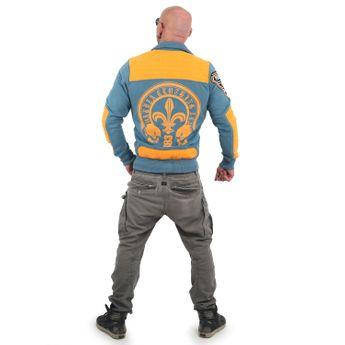 Yakuza Herren Sweatjacke Lily Skull ZB 13018 mallard blue blau online kaufen
