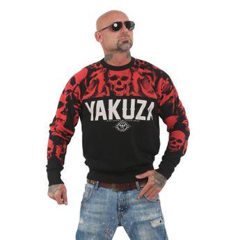 Yakuza Herren Pullover Sweatshirt Sick N Fxck PB 13052 schwarz