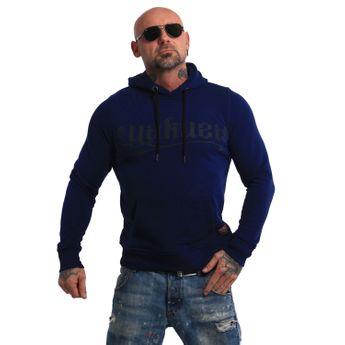 Yakuza Herren Kapuzenpullover Rookie Hoodie HOB 13064 blau meliert