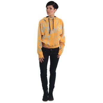 Yakuza Damen Kapuzenpullover Allover Funnel GHOB 13101 pale banana gelb online kaufen
