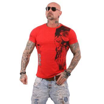Yakuza Herren T-Shirt Skull TSB 12015RL rot online kaufen