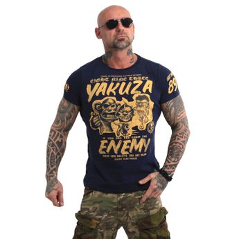 Yakuza Herren T-Shirt Enemy TSB 13027 mood indigo blau