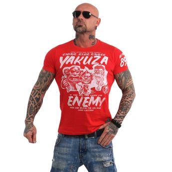 Yakuza Herren T-Shirt Enemy TSB 13027 ribbon red rot online kaufen