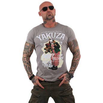 Yakuza Herren T-Shirt Clown TSB 13028 cloudburst grau