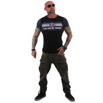 Yakuza Herren T-Shirt Aggressive Two Face TSB 13040 schwarz online kaufen