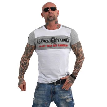 Yakuza Herren T-Shirt Aggressive Two Face TSB 13040 weiß online kaufen