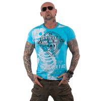 Yakuza Herren T-Shirt Xray TSB 13045 blue atoll blau 001