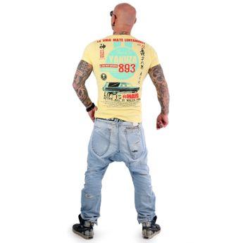 Yakuza Herren T-Shirt Mate Lentamente TSB 13033 pale banana gelb online kaufen