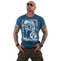 Yakuza Herren T-Shirt Inhale TSB 13029 mallard blue blau 001