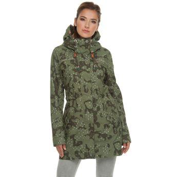 ragwear Damen Übergangsjacke Parka Tawny Camo olive grün