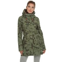 ragwear Damen Übergangsjacke Parka Tawny Camo olive grün 001