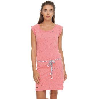 Ragwear Damen Sommer Kleid Tamy coral rosa