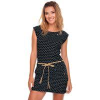 Ragwear Damen Sommer Kleid Tag Zig Zag schwarz 001