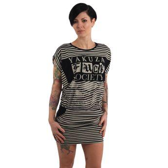 Yakuza Damen Skater Sommer Kleid Trip GKB 14165 afterglow natur online kaufen
