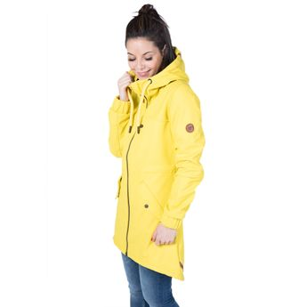 Alife and Kickin Damen Regenjacke Mantel Audrey Raincoat citron gelb online kaufen