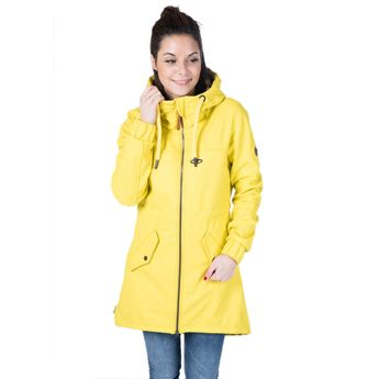 Alife and Kickin Damen Regenjacke Mantel Audrey Raincoat citron gelb