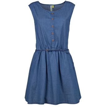 Alife and Kickin Damen Jeans Kleid Scarlett A Dress dark denim circles blau online kaufen