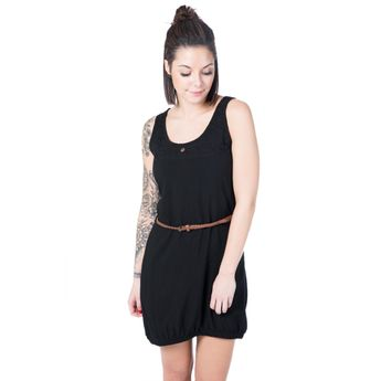 Alife and Kickin Damen Kleid Doja A Dress moonless schwarz online kaufen