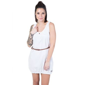 Alife and Kickin Damen Kleid Doja D Dress white denim weiß