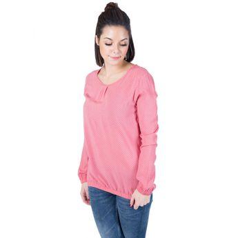Alife and Kickin Damen Langarm Blusen Shirt Dani Blouse coral circles rosa online kaufen