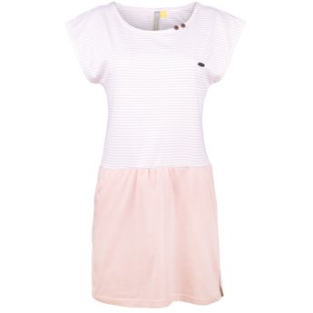 Alife and Kickin Damen Sommer Kleid Strandkleid Shanna Dress candy stripes rosa online kaufen