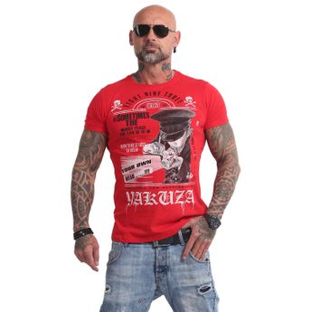 Yakuza Herren T-Shirt Own Head TSB 14046 ribbon red rot