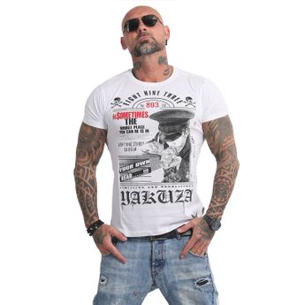 Yakuza Herren T-Shirt Own Head TSB 14046 weiß