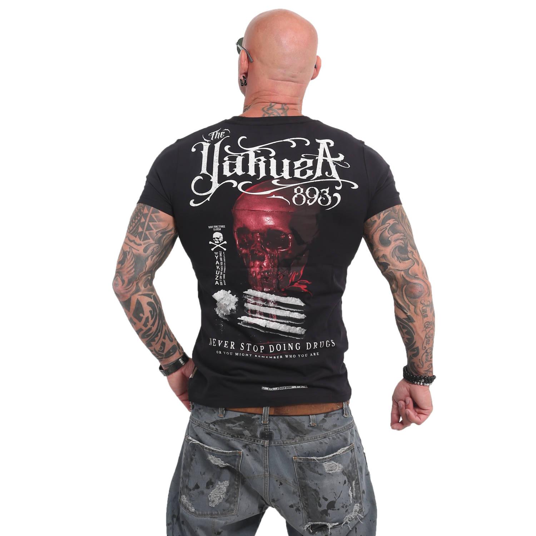 Yakuza Herren T-Shirt Never Stop TSB 14055 schwarz