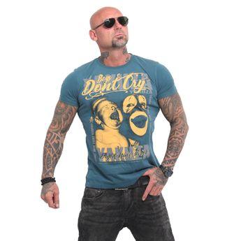 Yakuza Herren T-Shirt Boys Don't Cry TSB 14056 mediterranea blau
