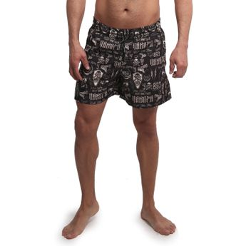 Yakuza Herren Badehose Allover Carry Swim-Shorts BSB 14079 gold schwarz gelb