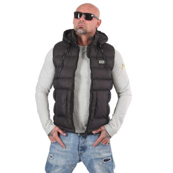 Yakuza Herren Steppweste 2Words Quilted Vest VB 14080 schwarz